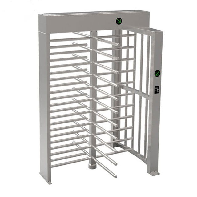 120 Degree Single Channel Fingerprint Reader Full Height Turnstile Gate